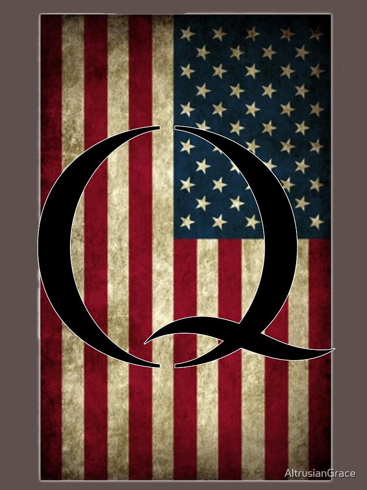 Q QANON AMERICA USA - WHERE WE GO ONE by AltrusianGrace