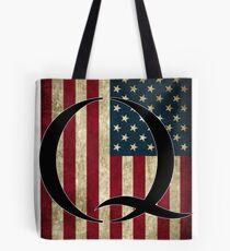 Q QANON AMERICA USA - WHERE WE GO ONE Tote Bag
