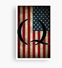 Q QANON AMERICA USA - WHERE WE GO ONE Canvas Print