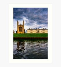 Kings College - Cambridge - The Backs Art Print