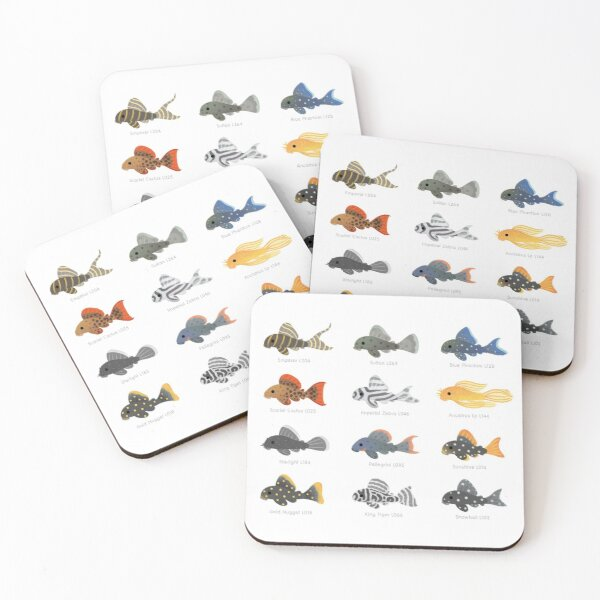 Pleco! Coasters (Set of 4)