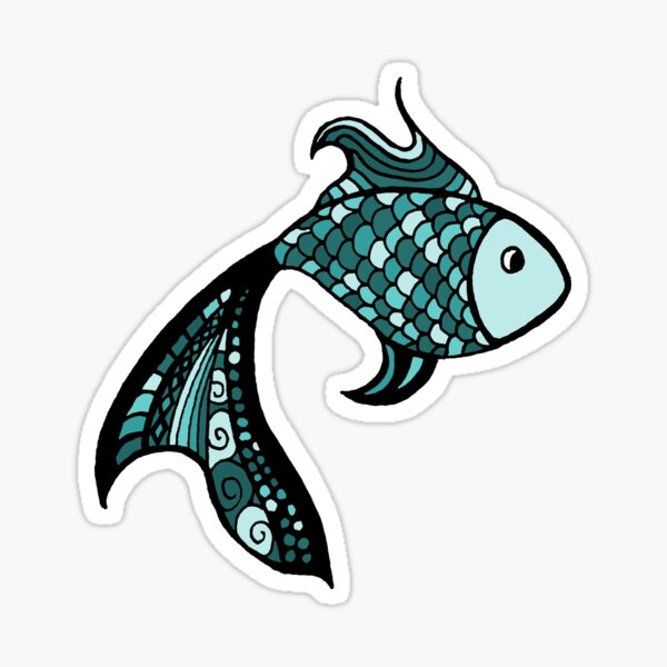 Lone Fish in the Sea Sticker