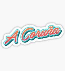 A Coruña Coruna es Typography Sticker