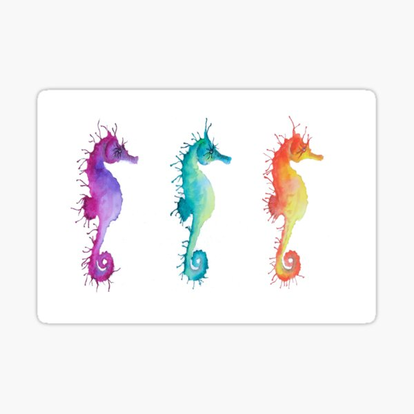 Seahorses Sticker