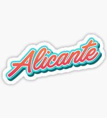 Alicante es Typography Sticker