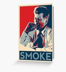 Smoke - Kennedy with cigar obama style poster graphic Greeting Card