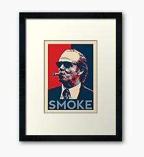 Smoke - Nicholson with cigar obama style poster graphic Framed Print