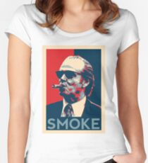 Smoke - Nicholson with cigar obama style poster graphic Women's Fitted Scoop T-Shirt