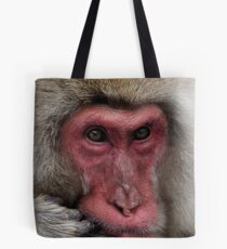 Middle Aged Monkey Man Tote Bag