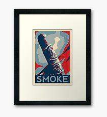 Smoke - cigar obama style poster graphic Framed Print