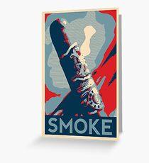 Smoke - cigar obama style poster graphic Greeting Card
