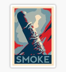 Smoke - cigar obama style poster graphic Sticker
