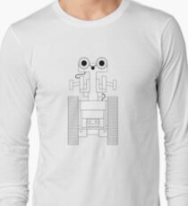 Vector black-and-white illustration of the robot. Long Sleeve T-Shirt