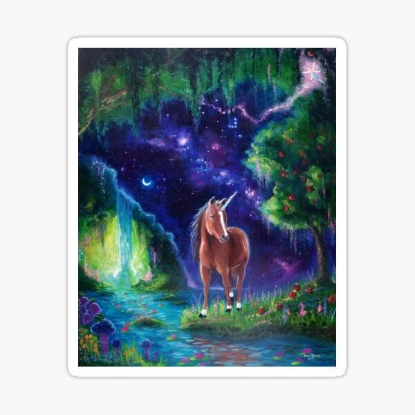 Sonny's Heaven-- Unicorn Fantasy scene Sticker