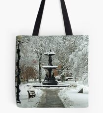 The Enchanting Franklin Fountain Park Tote Bag