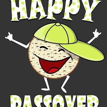 Happy Passover Cute Matzah Dancing Funny Jewish T Shirt by TimeForTShirt