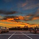 Trucking Sunrise by robcaddy