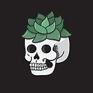 Succulent Skull  by Bonnabell .