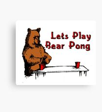 Bear Pong  Canvas Print