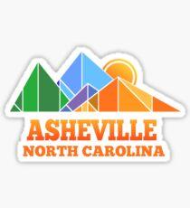 Retro Asheville Design Men Women and Kids Sticker