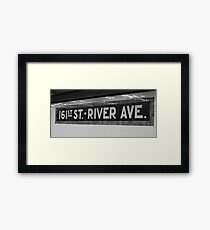 161st Street - River Ave Framed Print
