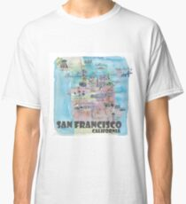 San Francisco Fine Art Print Retro Vintage Favorite Map Classic T-Shirt