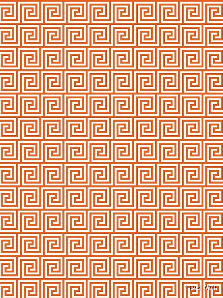 Geometric Pattern: Key Spiral: Orange by redwolfoz