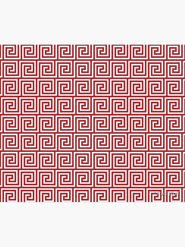 Geometric Pattern: Key Spiral: Red by redwolfoz