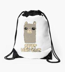 Spit Happens - Alpaca Grey Drawstring Bag