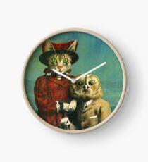 Reloj El búho y el gato del gatito