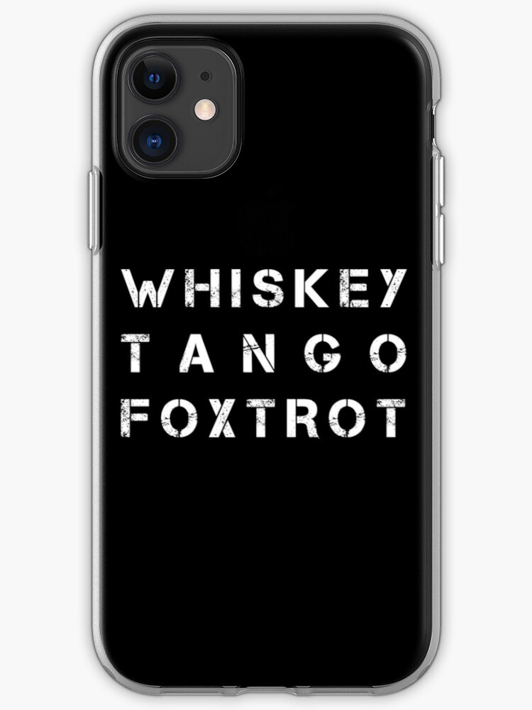 Whiskey Tango Foxtrot - Color Edition iPhone 11 case