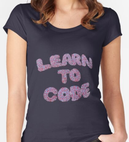 Learn To Code Fitted Scoop T-Shirt