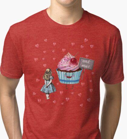Alicia en el país de las maravillas - comerme Camiseta de tejido mixto