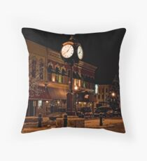Small Town America Town Square Throw Pillow