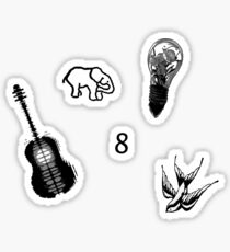 Shawn Mendes Tattoos Stickers Set Sticker