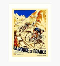 THE TOUR DE FRANCE; Vintage Bike Racing  Art Print