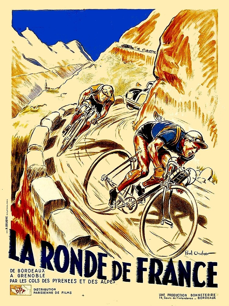 THE TOUR DE FRANCE; Vintage Bike Racing  by posterbobs