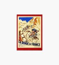 THE TOUR DE FRANCE; Vintage Bike Racing  Art Board