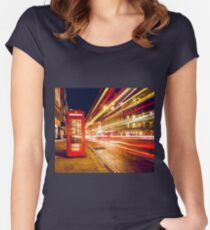 London red telephone box Women's Fitted Scoop T-Shirt