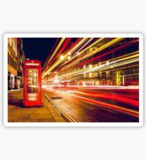 London red telephone box Sticker