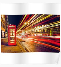 London red telephone box Poster
