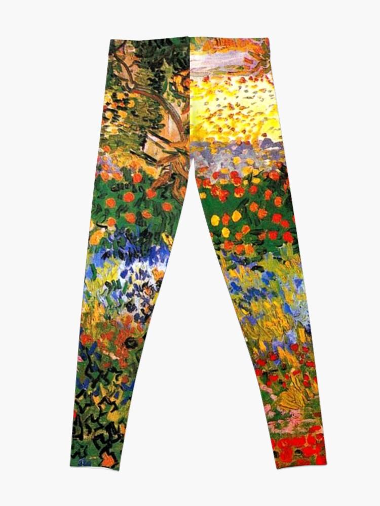 Alternate view of Van Gogh - Flower Garden, famous painting Leggings