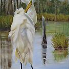 Bayou Coco Point Egret by Phyllis Beiser