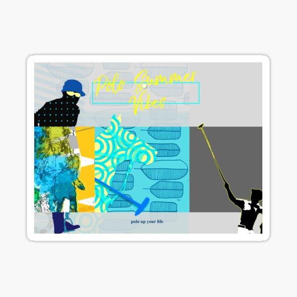 polo postcard turquoise Sticker