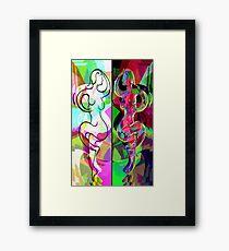Ta Dance By Light An Night Framed Print