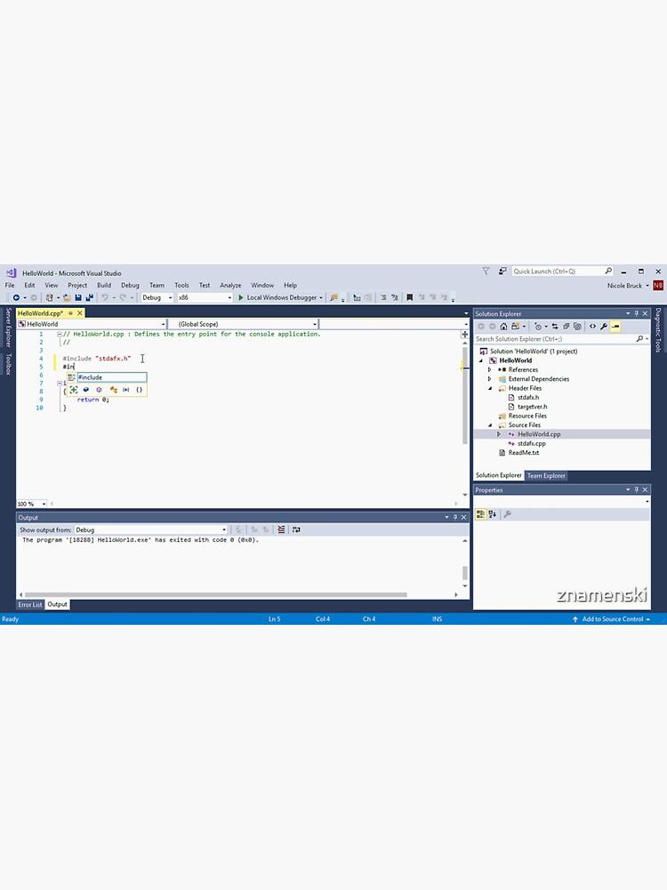 C++, Visual Studio, quickstart, familiar, tools, dialog boxes, applications, Hello by znamenski