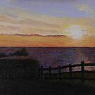Rhossili sunset by Kate Wilkey
