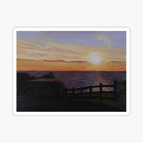 Rhossili sunset Sticker
