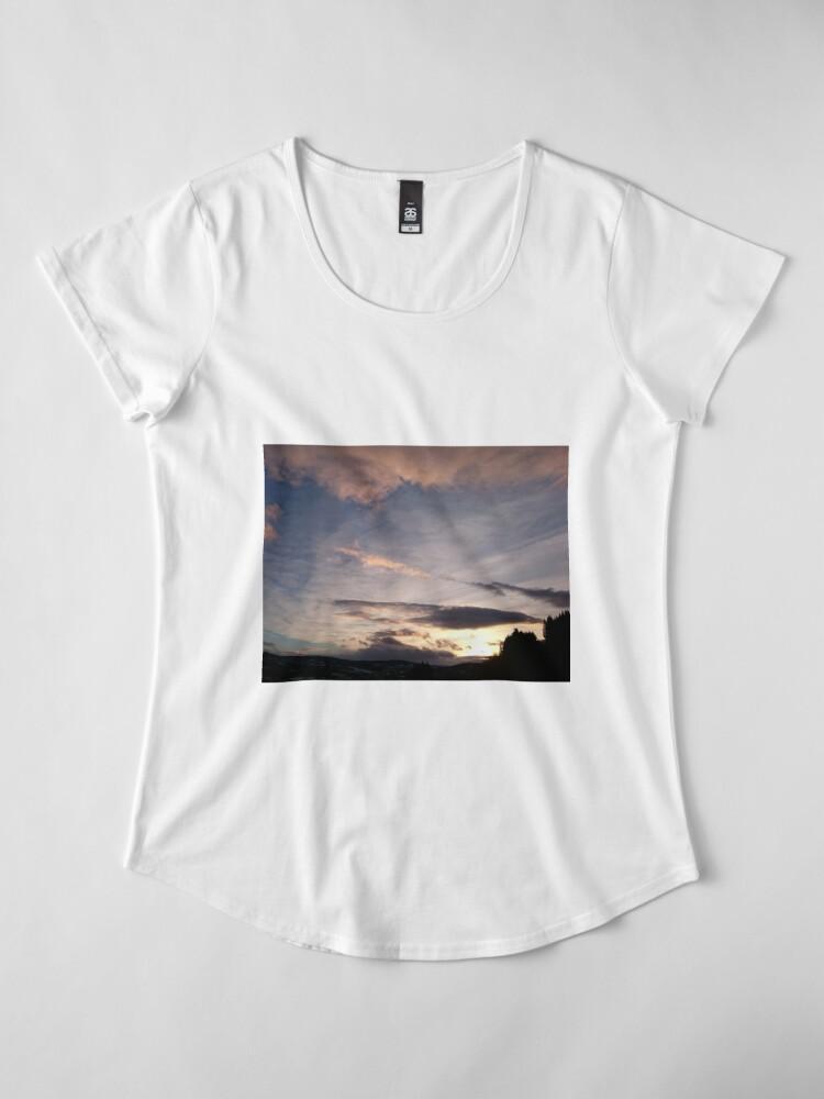 Alternate view of Evening Sky II Premium Scoop T-Shirt
