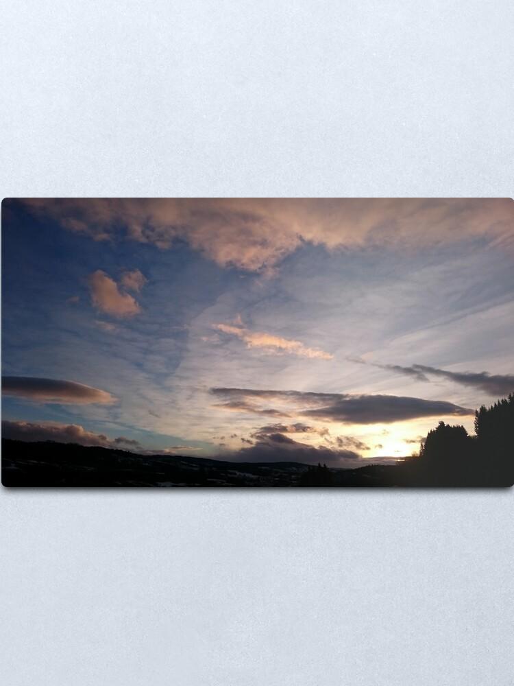 Alternate view of Evening Sky II Metal Print